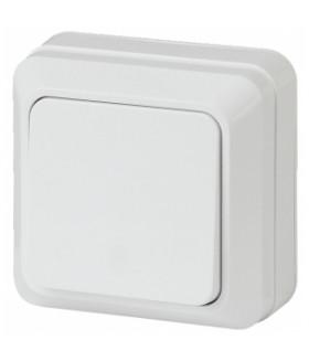 Выключатель, 10А-250В, ОУ, б.м.п., Quadro, белый 2Э-101-01