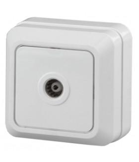 Розетка TV одиночная, ОУ, Quadro, б.м.п., белый 2Э-301-01