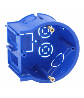 Подрозетник концевой UniPost 68х45мм для твердых стен синий IP30 UP-68-45-E