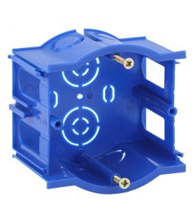 Подрозетник промежуточный UniPost 68х45мм для твердых стен синий IP30 UP-68-45-M
