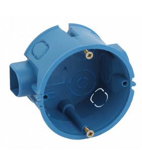 Коробка установочная КУТС 68х45мм для твердых стен саморез., стыковочные узлы синяя IP20 KUTS-68-45-blue