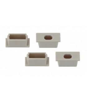 Набор заглушек для профиля CAB262, 4 сквозные 1506-3B