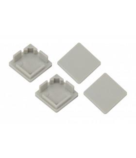 Набор заглушек для профиля CAB280, 4 глухие квадратные 1616S-3A