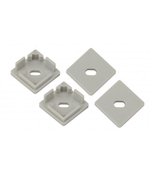 Набор заглушек для профиля CAB280, 4 сквозные квадратные 1616S-3B
