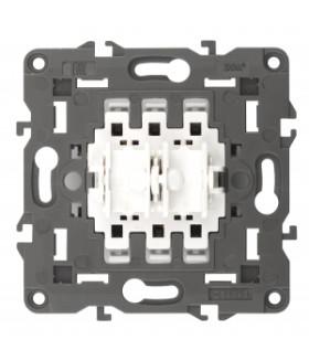 Переключатель для жалюзи (кноп), 10АХ-250В, Эра12, механизм (10/100/3000) 12-1110-99 ЭРА