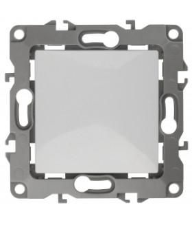 Кнопка, 10АХ-250В, Эра12, белый (10/100/3000) 12-1111-01 ЭРА