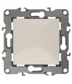 Кнопка, 10АХ-250В, Эра12, слоновая кость (10/100/2500) 12-1111-02 ЭРА