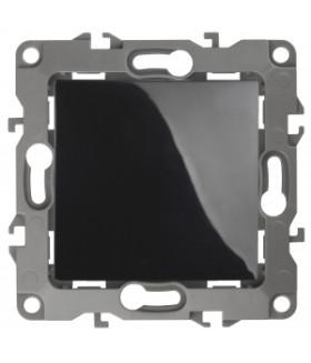Кнопка, 10АХ-250В, Эра12, чёрный (10/100/2500) 12-1111-06 ЭРА