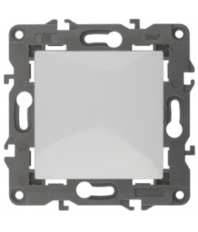 Кнопка, 10АХ-250В, Elegance, белый (10/100/2500) 14-1111-01 ЭРА