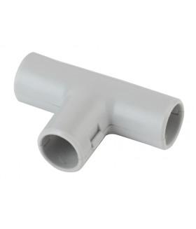 Тройник (серый) соединительный для трубы 16мм (10шт) TR-16