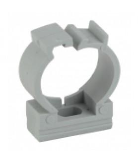 Крепеж-клипса (серый) для трубы d 25мм с фиксатором (50/500/25000) ЭРА