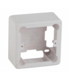 Коробка установочная 1-местная под кабель-канал КУK 85х85х42мм белая IP20 (44/1760) ЭРА