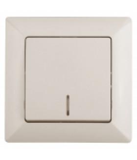 Выключатель с подсветкой, 10А-250В, СУ, Solo, сл.кость 4-102-02 Intro