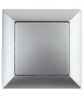 Выключатель, 10А-250В, СУ, Solo, алюминий 4-101-03 Intro
