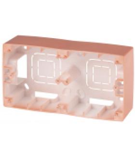 Коробка наклад. монтажа 2 поста, Эра12, медь 12-6102-14 ЭРА