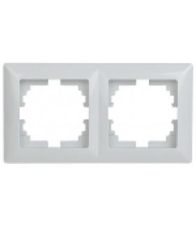 Рамка на 2 поста, СУ, Solo, белый 4-502-01 Intro