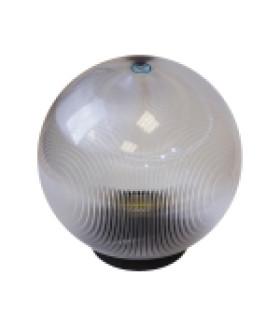 Светильник садово-парковый, шар прозрачный призма D=200 mm НТУ 02-60-202 ЭРА