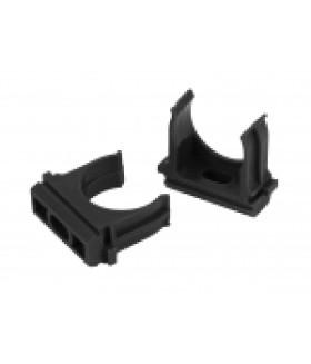 ЭРА Крепеж-клипса (черный) для трубы d 25мм (10шт)