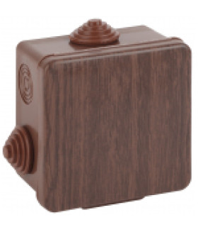 Коробка распаячн. открытой установки КОР (дуб) 80х80х50мм с гермовводами 7 вх. IP54 (32/1152) ЭРА