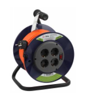 Удлинитель силовой ЭРА RPx-4es-3х1.0-30m на п. катушке c/з 4 гн 30м ПВС 3х1