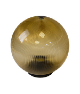 Светильник садово-парковый, шар золотистый призма D=200 mm НТУ 02-60-203 ЭРА