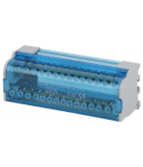 Шины на DIN-рейку в корпусе (кросс-модуль) ШНК 2х15 L+PEN NO-224-14 ЭРА