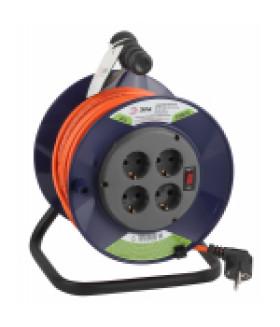 Удлинитель силовой ЭРА RPx-4es-3х1.0-40m на п. катушке c/з 4 гн 40м ПВС 3х1