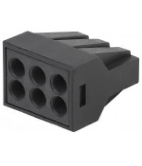 Клемма СМК с пастой серии 306, 6 отверстий, 0,5-2,5 мм2 NO-224-58 ЭРА