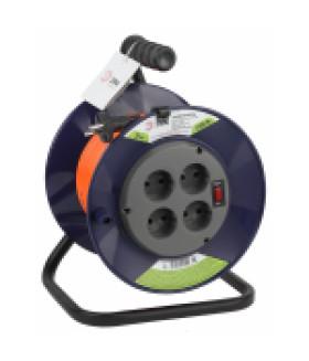 Удлинитель силовой ЭРА RPx-4s-2x0.75-20m на п. катушке б/з 4 гн 20м ПВС 2х0.75