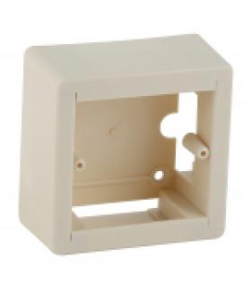 Коробка установочная универсальная под кабель-канал КУK 88х88х44мм белая IP20 (50/1750) ЭРА