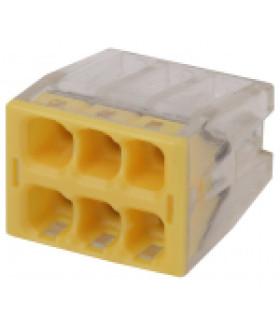 Клемма СМК компактная с пастой серии 246, 6 отверстий, 0,5-2,5 мм2 NO-224-38 ЭРА
