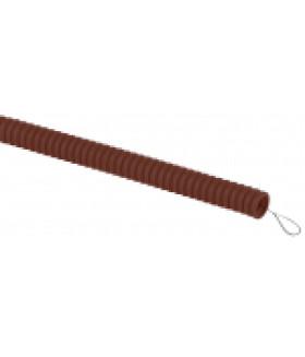 ЭРА Труба гофрированная ПВХ (дуб) d 16мм с зонд. легкая 25м