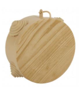 Коробка распаячн. открытой установки КОР (сосна) 65х40мм с гермовводами 4 вх. IP54 (60/1800) ЭРА