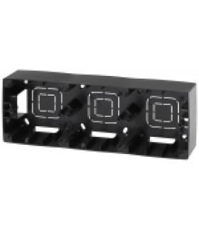 12-6103-06 ЭРА Коробка наклад. монтажа 3 поста, Эра12, чёрный