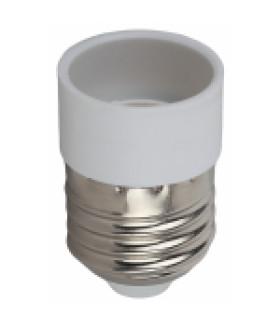 ЭРА Переходник E27-E14, пластик, белый