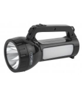 Фонарь PA-504 Трофи прожекторный 1W SMD LED, боковой светильник- 24 SMD LED, 2режима, аккумулятор