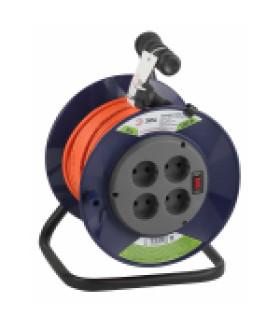 Удлинитель силовой ЭРА RPx-4s-2x0.75-30m на п. катушке б/з 4 гн 30м ПВС 2х0.75