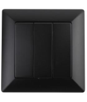 Выключатель тройной, 10А-250В, СУ, Solo, антрацит 4-106-05 Intro