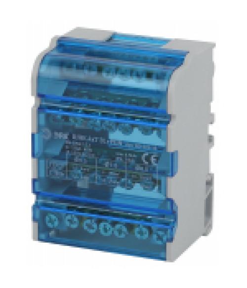 Шины на DIN-рейку в корпусе (кросс-модуль) ШНК 4х7 3L+PEN NO-224-15 ЭРА