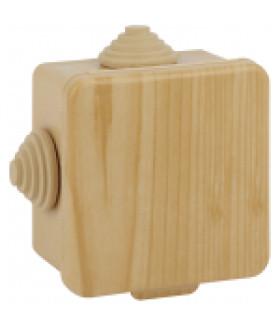 Коробка распаячн. открытой установки КОР (сосна) 65х65х50мм с гермовводами 4 вх. IP54 (45/1620) ЭРА