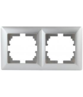 Рамка на 2 поста, СУ, Solo, алюминий 4-502-03 Intro