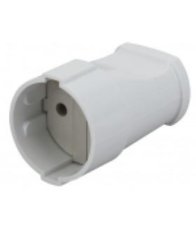 Розетка кабельная б/з прямая 10A белая Rx1-W ЭРА