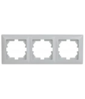 Рамка на 3 поста, СУ, Solo, белый 4-503-01 Intro