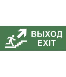 """Самоклеящаяся этикетка 200х60мм """"Выход/лестница вверх/фигура"""" DPA/DBA (5/15000) INFO-DBA-014 ЭРА"""