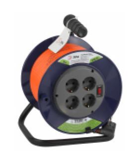 Удлинитель силовой ЭРА RPx-4es-3x1.5-30m на п. катушке c/з 4 гн 30м ПВС 3х1.5