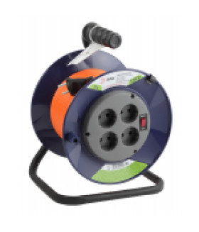 Удлинитель силовой ЭРА RPx-4s-2x1.0-20m на п. катушке б/з 4 гн 20м ПВС 2х1