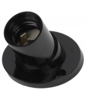 ЭРА Патрон Е27 настенный, бакелит, черный (x50)