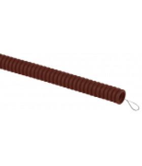 ЭРА Труба гофрированная ПВХ (дуб) d 25мм с зонд. легкая 25м