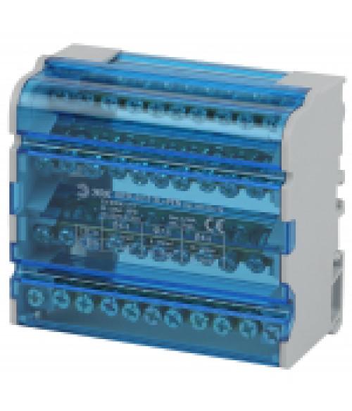 Шины на DIN-рейку в корпусе (кросс-модуль) ШНК 4х11 3L+PEN NO-224-16 ЭРА