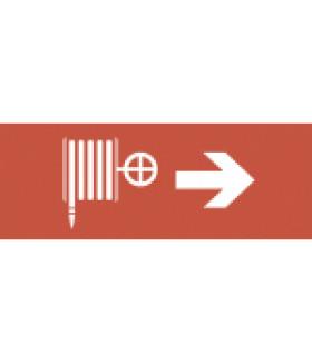 """Самоклеящаяся этикетка 350х130мм """"Пожарный кран/стрелка направо"""" SSA-101 (5/20000) INFO-SSA-107 ЭРА"""